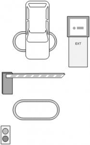 Паркинг с билетными стойками и ручной кассой - выезд