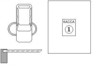 Паркинг с реверсивным проездом через КПП выезд